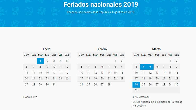 Resultado de imagen para feriados nacionales argentina