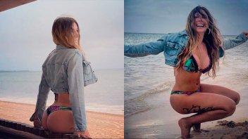 Para ella los años no pasan: Mónica Ayos derrocha sensualidad en la playa