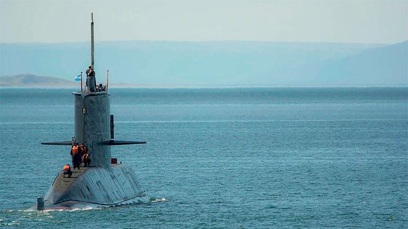 El casco del submarino fue hallado