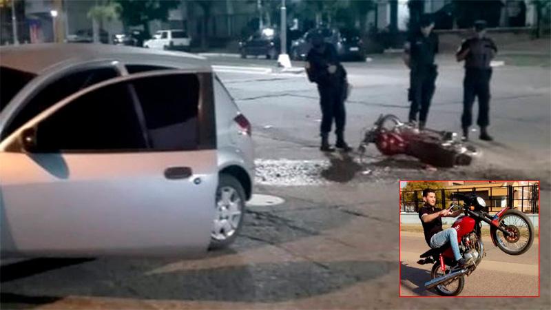 Falleció un joven que había protagonizado violentísimo accidente de moto