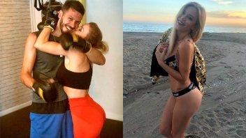 Entrenamiento hot: Evangelina Anderson derrocha sensualidad junto a Demichelis