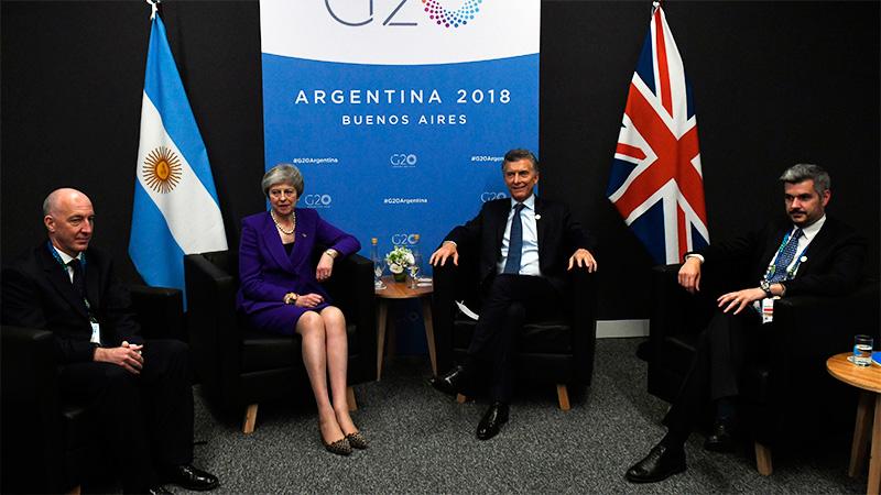 En histórico encuentro, Macri y May hablaron de fortalecer la relación bilateral