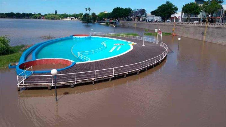 Crecerán los ríos por las lluvias y preocupa la sudestada en Gualeguaychú