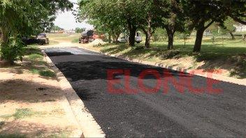 Concretaron la obra de asfalto para barrio Circunvalación