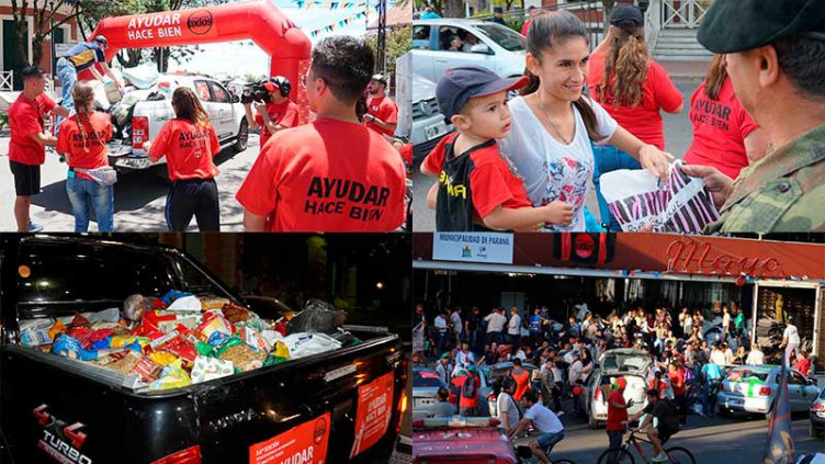 Ayudar hace bien: Una vez más, la solidaridad movilizó a una multitud