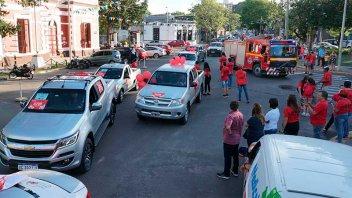 Llegó a Sala Mayo la tradicional caravana solidaria de Once por Todos