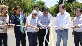Bordet inauguró el acceso a Pueblo Liebig