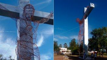 Quedó inaugurada la nueva imagen del Cristo de la Hermandad en Chajarí