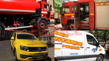 Bomberos Voluntarios de Paraná presentó cuatro nuevas unidades