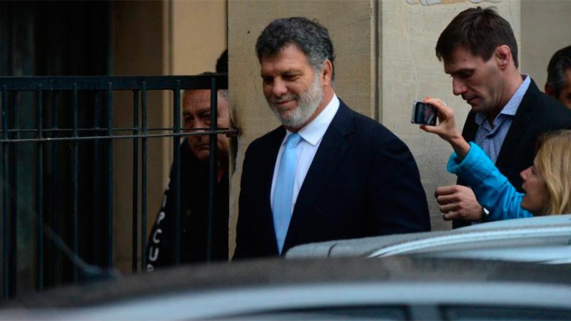 Gianfranco Macri, al salir de Comodoro Py.