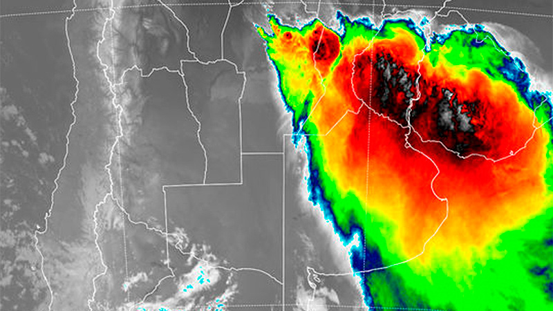 Fuerte tormenta en Paraná: renovaron alerta para Entre Ríos y otras provincias