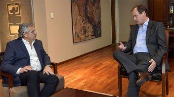 Alberto Fernández se reunió con Bordet: