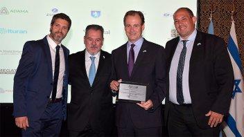 Bordet fue distinguido por la Cámara de Comercio Argentino Israelí