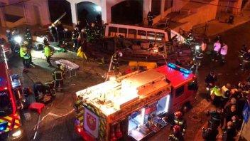 Al menos 28 heridos tras el descarrilamiento de un tranvía en Lisboa