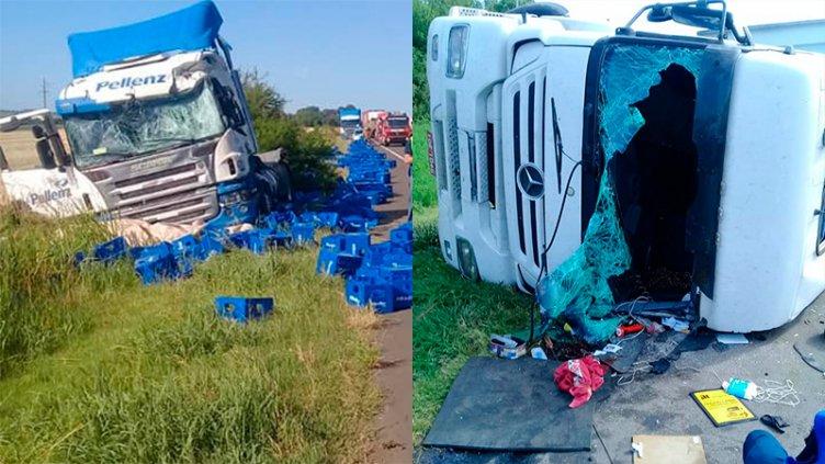 Otro accidente fatal en Entre Ríos: Camionero murió tras un choque frontal