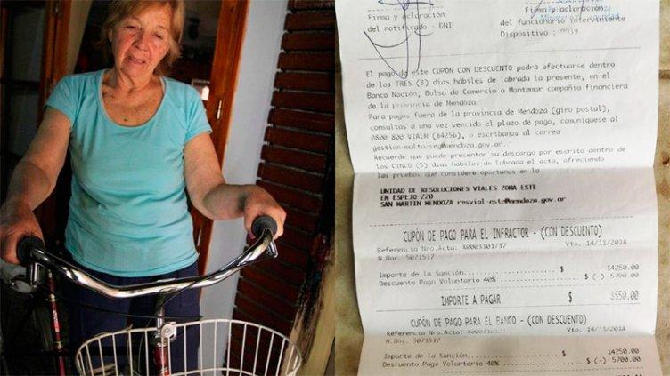 Le hicieron una multa de $ 14.000 por andar en bicicleta sin casco