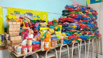 Crespo: Scout juntaron más de dos mil alimentos para familias necesitadas