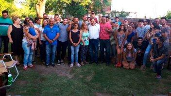 Varisco en campaña: Se reunió con militantes y dirigentes barriales