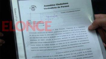 Vecinalistas pidieron a Varisco que vete la ordenanza Tributaria Municipal 2019