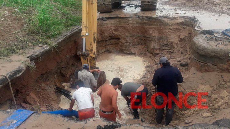 Corte de agua afecta a gran parte de Paraná debido a la reparación de un caño
