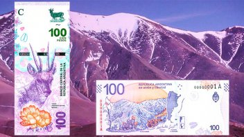 El Banco Central lanzó el nuevo billete de 100 pesos: Sus características