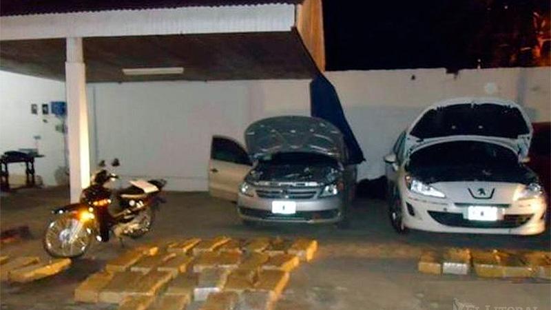 En tres vehículos se halló escondida la droga