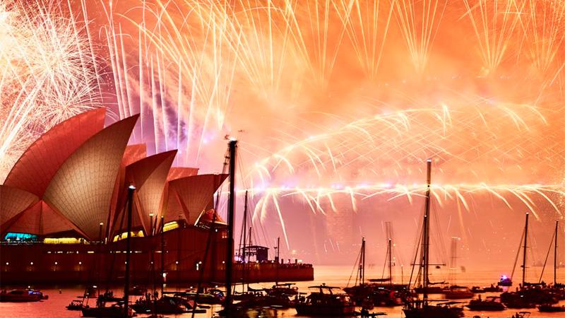 Celebración del Año Nuevo en la Bahía de Sídney