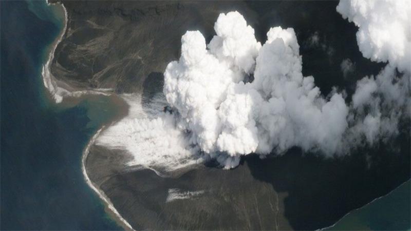 """En lugar del cono lateral del volcán, """"apareció"""" una bahía"""