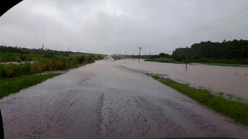 Ruta 48, en zona de Santa Elena