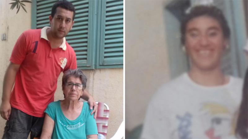 Rosalía junto a su hijo. A la derecha, su otra hija que dio a luz en el Heras