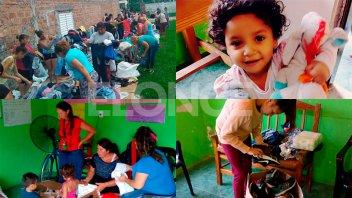 Damnificados por las intensas lluvias recibieron donaciones de Once por Todos