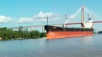 Videos: Un buque chocó a dos personas en Río Paraná
