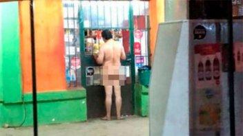 Insólito: Un hombre fue desnudo a comprar azúcar a un kiosco
