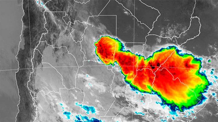 Renovaron alerta por tormentas para una zona de Entre Ríos y otras 6 provincias