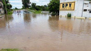 Por la inundación, analizan reubicar la zonal Vialidad de Victoria