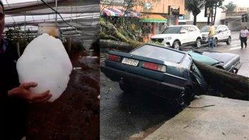 Impresionantes imágenes: Un fuerte temporal arrasó Uruguayana