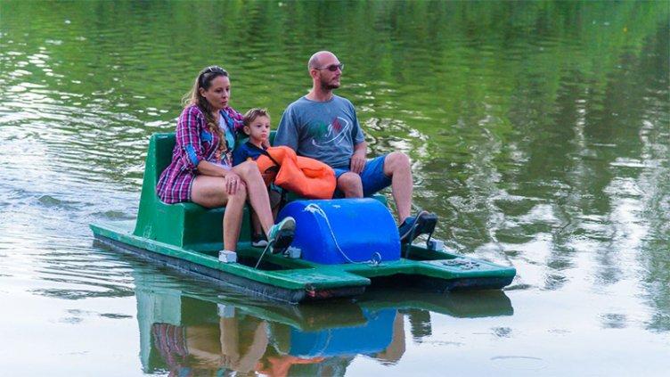 Un clásico: volvieron los batibotes al Parque Gazzano