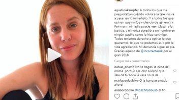 Echaron a Agustina Kämpfer y ella responsabilizó a Eduardo Feinmann