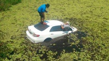 Un precandidato a intendente fue quien rescató a conductor atrapado