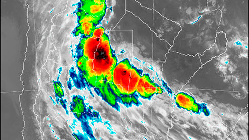 Imagen de radar de las 4.30