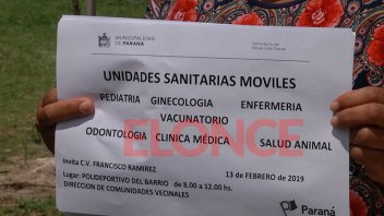 La Unidad Sanitaria Móvil estará en barrio Francisco Ramírez
