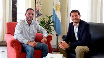 Gainza se reunió con el presidente de la Coalición Cívica
