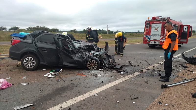 Fatal choque en Ruta 14: Confirmaron las identidades y tres nenitas están graves