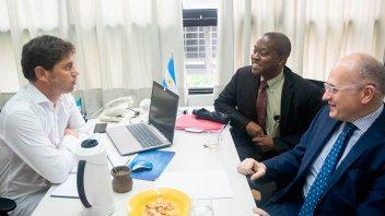 Kicillof se reunió con enviados del FMI y dialogaron sobre la economía del país