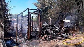 Nena de cuatro años murió en incendio de la precaria vivienda en la que vivía