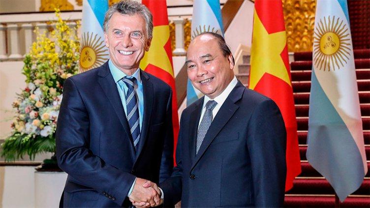 Macri y su par de Vietnam acordaron profundizar el comercio y lazos culturales