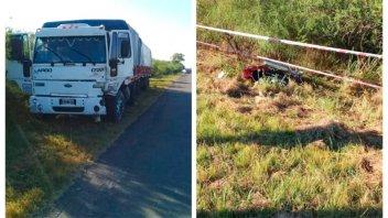 Motociclista perdió la vida tras chocar de frente con un camión