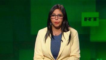 La vicepresidenta de Venezuela apuntó contra la