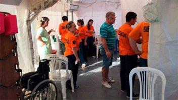 Asistieron a 28 personas en el puesto sanitario de la Costanera de Gualeguaychú