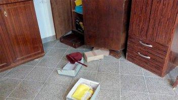 Provocaron destrozos en una capilla de Viale